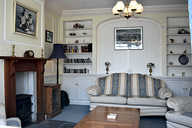 Panelled living room holiday letting North Devon