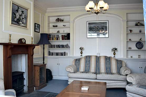 Original fully panelled room at Charter House Devon