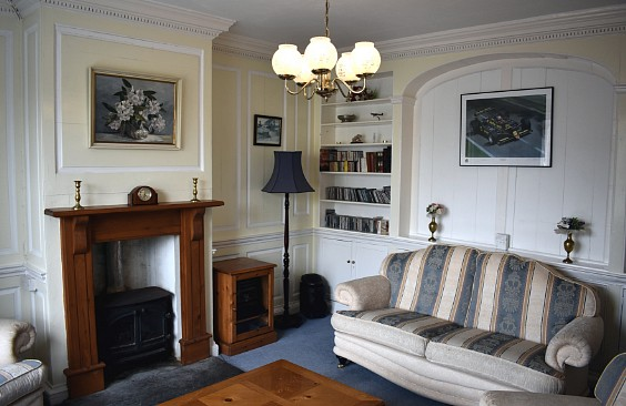 Original panelled reception room